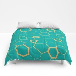 Hex pattern Comforters