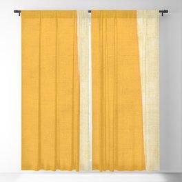 Yellow White Blackout Curtain