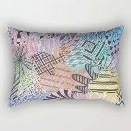 Organized Chaos - Rainbow Rectangular Pillow