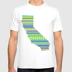 California Modern Navajo MEDIUM White Mens Fitted Tee