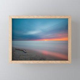 Colorful Sunset Beach Framed Mini Art Print