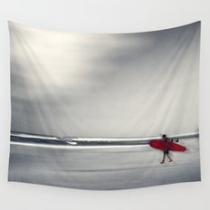 RED surfBoard 16 Wall Tapestry
