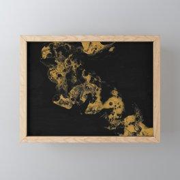 Black Gold Framed Mini Art Print