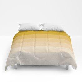 MUSTARD YELLOW GRADIENT NEUTRAL STRIPES Comforters