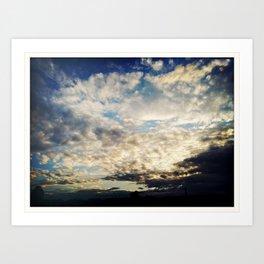 Cloudy Skies Art Print