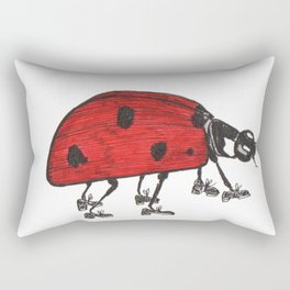Ladybug Wearing Tap Shoes Gotta Dance Rectangular Pillow