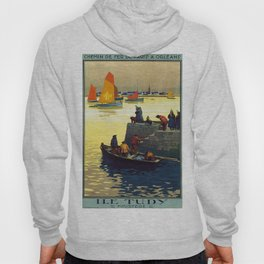 Ile Tudy-Finistere, French Travel Poster Hoody