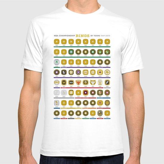 NBA Championship Rings T-shirt