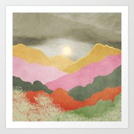 Colorful mountains Art Print