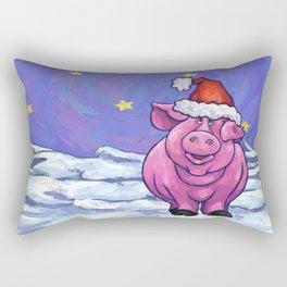 Pig Christmas Rectangular Pillow