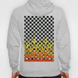 CHECKERED FLAMES Hoody