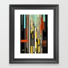 Straight Up New York Framed Art Print