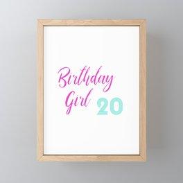 20th Birthday Bday Wedding Anniversary Gift Idea Framed Mini Art Print