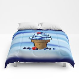 Life is better with ice cream2 Comforters