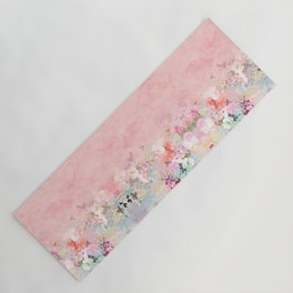 Modern blush watercolor ombre floral watercolor pattern Yoga Mat