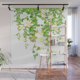 Watercolor Ivy Wall Mural