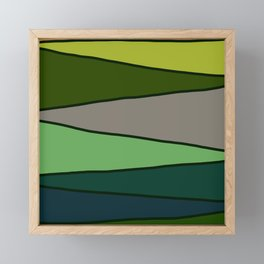 Green Saw Framed Mini Art Print