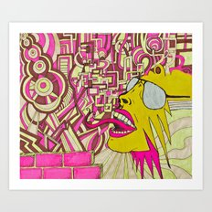 The Most Gigantic Lying Mouth Art Print