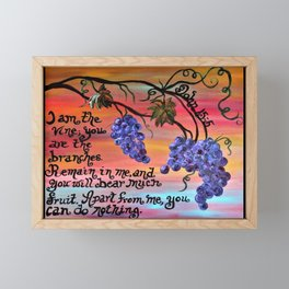 I am the Vine Framed Mini Art Print