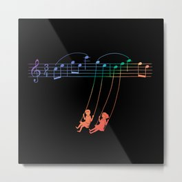 Music Swing Metal Print