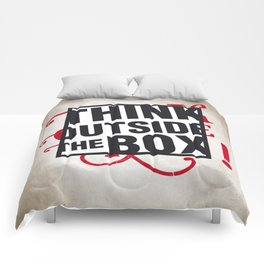 Think outside the BOX!  Comforters