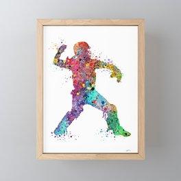 Baseball Softball Catcher 3 Art Sports Poster Framed Mini Art Print