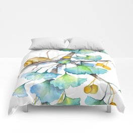 Ginkgo and A Snail Comforters