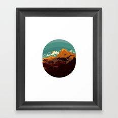 Jurassic Escape Framed Art Print