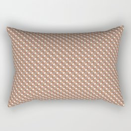 Cavern Clay SW 7701 and Accent Colors Abstract Rippled Diamond Square Grid Pattern Rectangular Pillow