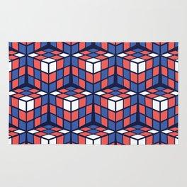 cascade - red/white/blue Rug
