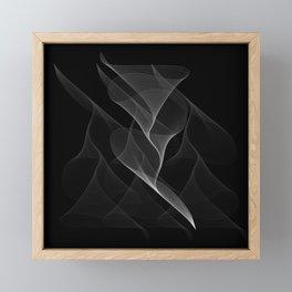Black and White Flux #minimalist #homedecor #generativeart Framed Mini Art Print