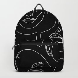 Faces in Dark Backpack