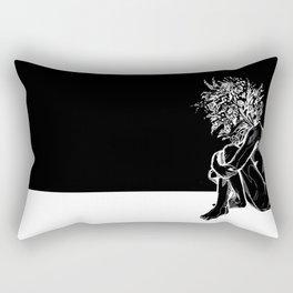 Blossom in the Void Rectangular Pillow