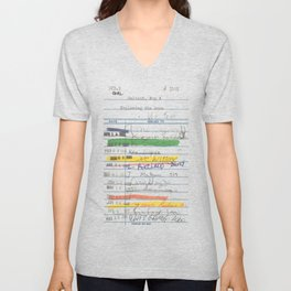 Library Card 3503 Exploring the Moon Unisex V-Neck