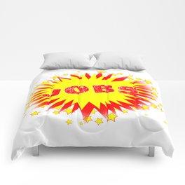 Cartoon Yellow Jobs Splash Comforters