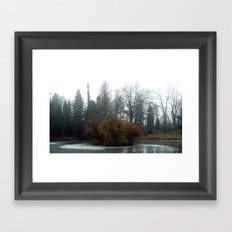 frozen island. Framed Art Print