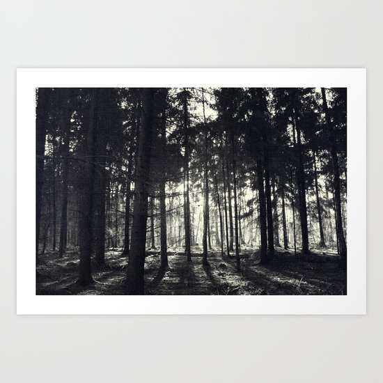 light in the dark Art Print