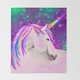 Celestial Unicorn Throw Blanket