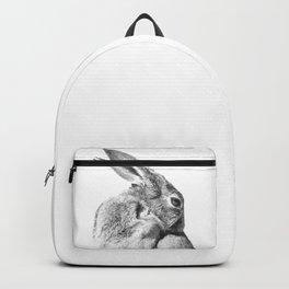 Black and white rabbit Backpack