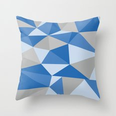 Blue & Gray Geometric Throw Pillow