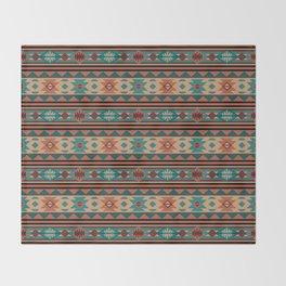 Southwest Design Turquoise Terracotta Throw Blanket