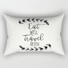 Eat Well Travel Often, Rectangular Pillow