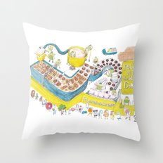 Robots make the best donuts Throw Pillow