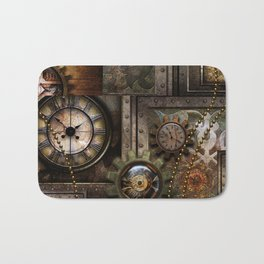 Steampunk, wonderful clockwork with gears Bath Mat