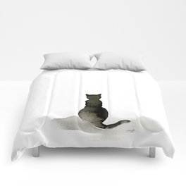 I Love Cats No. 2 by Kathy Morton Stanion Comforters