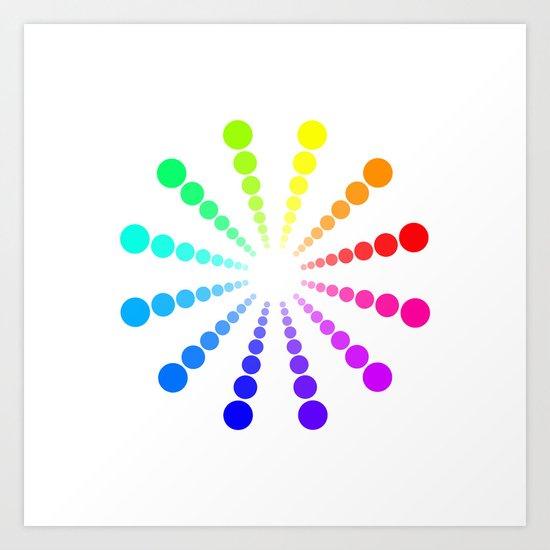 dots & circles o2 Art Print
