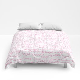 Pink Math Equations Comforters