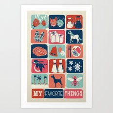 Favorite Things Art Print