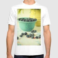 Blueberries Mens Fitted Tee MEDIUM White