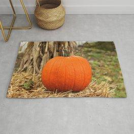 Pumpkin and the leaf Rug